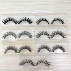 뜨거운 7 쌍 속눈썹 세트 믹스 7 디자인 수제 가짜 눈 속눈썹 메이크업 beauty 속눈썹 연장 가짜 속눈썹 v-20