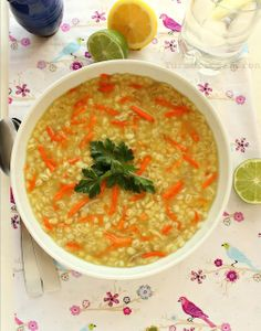 Turmeric and Saffron: Soup-e Jo - Persian Chicken Barley Soup
