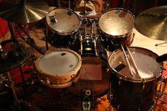 Tony Allen's pearl Masters kit