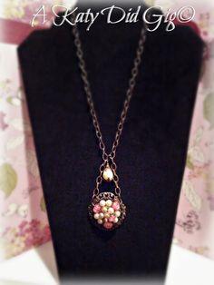 Pink Revamp Necklace. $24.20, via Etsy.