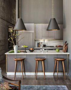 18 cocinas modernas pequeñas, llenas de inspiración | Gastronomía Regia