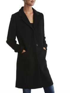 STILLY - LONG COAT, Black, main