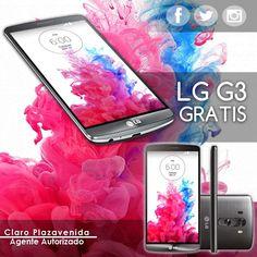 Adquiere tu fabuloso LG G3 con un plan de 1000Min+300SMS+3Mbps y una renta mensual por tan solo ¢36.450°° y la terminal te sale totalmente gratis. Solo en Claro Plazavenida..