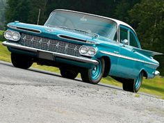 1959 Chevrolet Bel Air with a 348 2x3bbl V8 & HD 3 on-The-tree