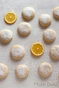 Meyer Lemon Cloud Cookies by Tutti Dolci. My affinity for anything Meyer lemon runs deep (previously: Meyer lemon-brown butter bars, Meyer lemon pound cake, Meyer lemon madeleines). In addition to my own tree, I was gifted a bag filled wit. Meyer Lemon Recipes, Lemon Dessert Recipes, Köstliche Desserts, Baking Recipes, Sweet Recipes, Cookie Recipes, Delicious Desserts, Yummy Food, Lemon Cookies
