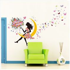 2018 Limited For Creative Promotion New Arrival Girls Sitting On Moon Wall Stickers Home Decoration Sticker Removable Poster. Yesterday's price: US $8.28 (6.84 EUR). Today's price: US $5.13 (4.25 EUR). Discount: 38%.