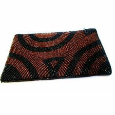 iPurse® Purse/Wallet/Pouch -Mondrian Swirl Brown/ Phone case/Wallet/Evening purse/Pouch
