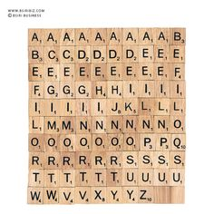 Bulk Wooden Scrabble tiles letter alphabet for Jewelry by BSIRIBIZ