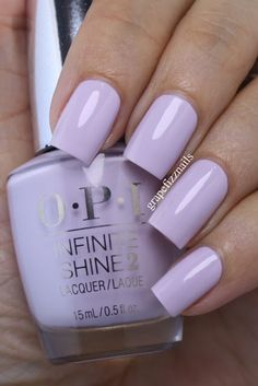 Grape Fizz Nails: OPI Infinite Shine Summer Collection 2015 you're blushing again Stylish Nails, Trendy Nails, Cute Nails, Lavender Nails, Lavender Nail Polish, Purple Nail Polish, Opi Nail Colors, Pastel Nails, Acrylic Nails