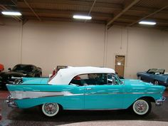 1957 Chevy Bel Air. I always imagined myself living in CA driving one of these along the beach with my surf board on top :)