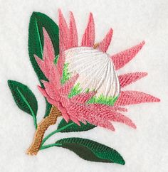 Machine Embroidery Designs at Embroidery Library! Machine Embroidery Designs, Embroidery Stitches, Embroidery Patterns, Protea Flower, Flowers, String Wall Art, Hand Embroidery Dress, Paper Quilling Designs, Tapestry Crochet