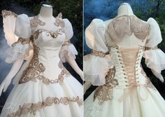 Tsubasa Chronicles Bridal Gown by Firefly-Path on DeviantArt Pretty Dresses, Beautiful Dresses, Zelda Dress, Halloween Wedding Dresses, Fantasy Gowns, Fantasy Outfits, Medieval Clothing, Queen, Lolita Fashion