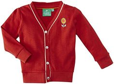 Little Green Radicals Pointelle Cardigan Baby  Red36 Months -- Check this awesome product by going to the link at the image. (This is an affiliate link) #BabyGirlSweaters