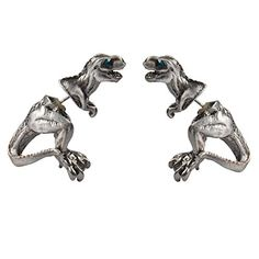 English Made T Rex Head Dinosaur Pewter Cufflinks Presented in a Box