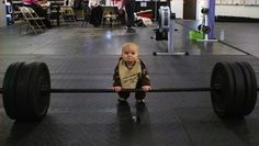 Dead lifting baby - You Can Do It!