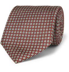 Sulka Printed Silk Tie | MR PORTER
