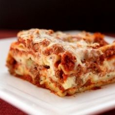 World's Best Lasagna - Delish! Made for the first time 7/29 - it was perfect!