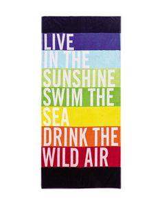 Encantadoras toallas alegres y con mucho color para el verano | Mil Ideas de Decoración
