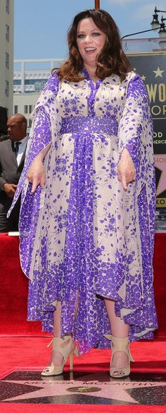 Melissa McCarthy was pretty in purple as she was honored with a star on the Hollywood Walk of Fame.