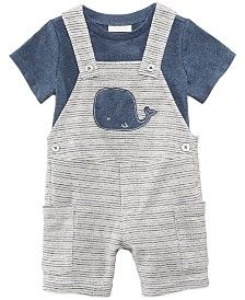 First Impressions T-Shirt & Whale Shortfall Set, Baby Boys,, Created for Macy's - Blue 24 months Cute Baby Boy Outfits, Cool Baby Clothes, Newborn Boy Clothes, Newborn Outfits, Baby Boy Newborn, Toddler Outfits, Kids Outfits, Toddler Boys Clothes, Baby Boy Overalls