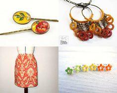 #orange #sunny #handmade #crochet #textile #fiber #earrings #jewelry #jewellery #chain #bronze #brass #dangle #loops #silk #thread #hoop #bohemian #young #fashion #trends #spring #summer #autumn