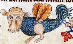 Bizarre medieval creature...Lutrell psalter.  1325