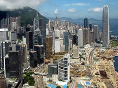 Admiralty, Central and the Central and Wan Chai Reclamation, view from the east in 2010.