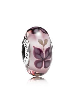 Pandora Charm - Sterling Silver & Murano Glass Butterfly Kisses, Moments Collection | Sterling silver/murano glass | Imported | Style #791621 | This item is only compatible with products from the Mome