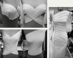 Draping and Moulage | The Cutting Class. Details of draping and moulage found on Pinterest, image 1.