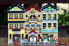 Friendly Modulars...Heartlake City Lego Friends school, riding camp and vet