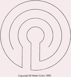 simple design for yard labyrinth