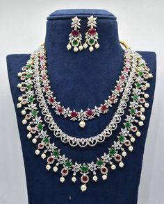 Diamond Necklace Set, Diamond Jewelry, Gold Jewelry, Gold Necklace, Antique Jewelry, Antique Necklace, Chain Jewelry, Stone Necklace, Indian Jewelry Sets