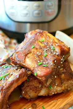 This Instant Pot teriyaki ribs recipe is sweet and spicy all rolled into one. Fall off the bone pressure cooker ribs done in 25 minutes and just amazing!