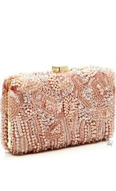 Elie Saab resort 2015 blush clutch via ❤ Rose Gold ❤ |