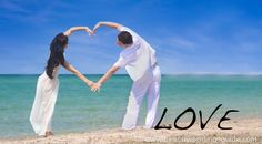 spelling out your love on the beach. #beach wedding photo