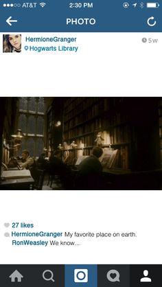 When she is being honest:   If Hermione Granger Had Instagram