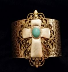 Cross Cuff Bracelet by IDIG on Etsy