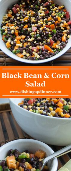 A delicious and refreshing Black Bean & Corn Salad made with fresh ingredients. Perfect with chicken, fish, or beef.