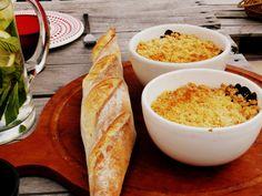 Comidas con pollo: un crumble de pollo y hongos portobello exquisito y muy fácil de hacer. Receta con fotos del PASO a PASO. ¡Es riquísimo!