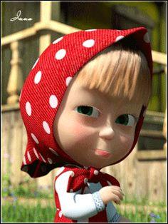 Cartoon Girl Images, Cute Cartoon Girl, Cartoon Gifs, Cute Cartoon Wallpapers, Animated Emoticons, Animated Gif, Animation, Desenho New School, Marsha And The Bear