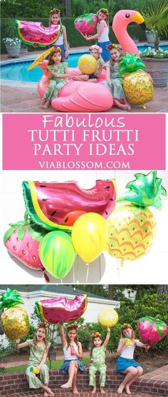 You don't want to miss our fabulous Tutti Frutti Party Ideas and decorations!!! Perfect for a Twotti Frutti Party, a Fruity Party, a Tropical Party or a Summer Party!