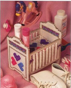 Crib Beaded Basket Plastic Canvas Pattern by needlecraftsupershop, $3.50