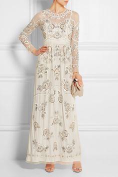 Needle & Thread|Garden Scatter embellished tulle maxi dress|NET-A-PORTER.COM