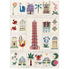 magic of kew tea towel