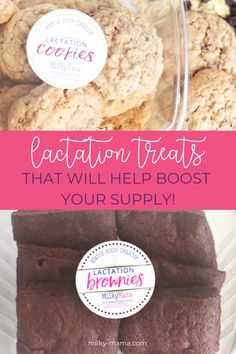 Lactation cookies and brownies for breastfeeding moms who want to increase their milk supply Grab one of our delicious recipes to eat as a treat for … – Organics® Baby food Breastfeeding Cookies, Food For Breastfeeding Moms, Breastfeeding Nutrition, Lactation Recipes, Lactation Cookies, Lactation Foods, Delicious Recipes, Yummy Food, Lactation Smoothie