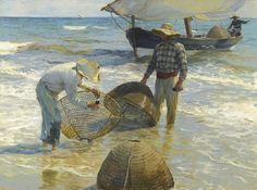 Joaquín Sorolla y Bastida (Spanish, 1863-1923), Pescadores valencianos [Valencian fishermen], 1895.