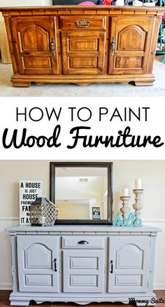 This tutorial gives great step-by-step directions on how to paint furniture. I love the finished product and that gorgeous decor.