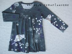 Winterbirds tunic by Unikuun terapiahuone. Fabric is my own pattern design.