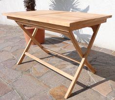 Elegant TEAK Klapptisch Holztisch Gartentisch Garten Tisch 120x70cm AVES Holz Geölt  Alles Für Garten Und Terasse Gartenmöbel