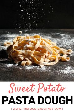 How to make Sweet Potato Pasta Dough from scratch? This article will show you how to easily make sweet potato pasta at home. Homemade pasta are way easier than it seems! Sweet Potato Pasta, Mashed Sweet Potatoes, Side Dish Recipes, Pasta Recipes, Fun Easy Recipes, Yummy Recipes, Dinner Recipes, Aussie Food, Lotsa Pasta